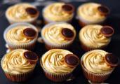 Caramel cupcakes with caramel cream