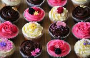 Chocolate lemon and raspberry cupcakes