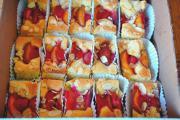 Summer fruit tray bake