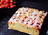 Strawberry & Almond teacake