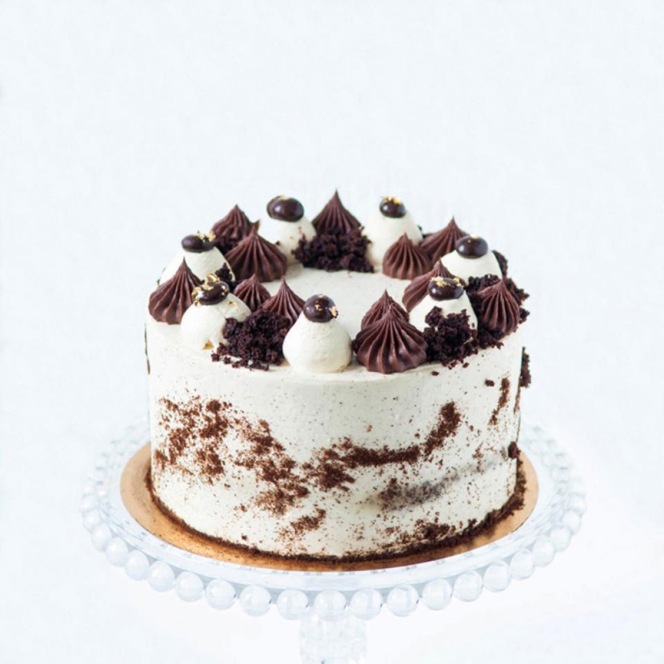 Birthday chocolate Irish coffee cake buy bakery near me Kensington