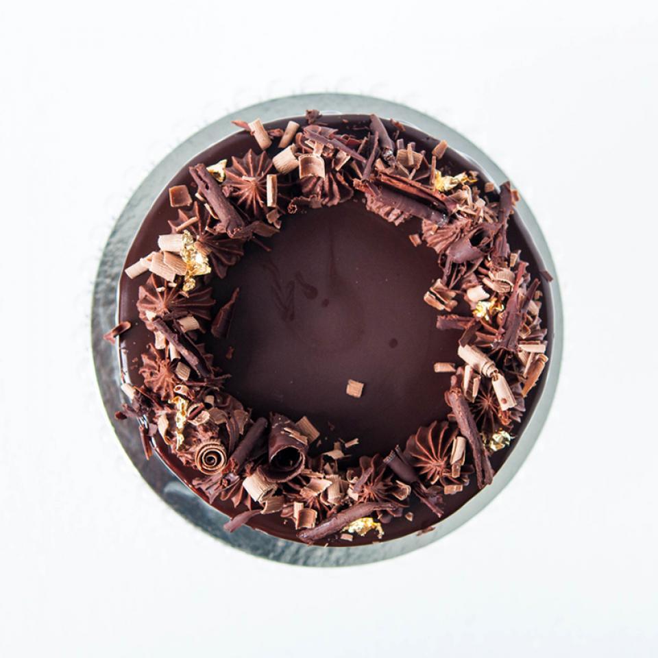 """6"""" Chocolate Guinness and Irish Baileys cream cake buy online £45.00 London"""