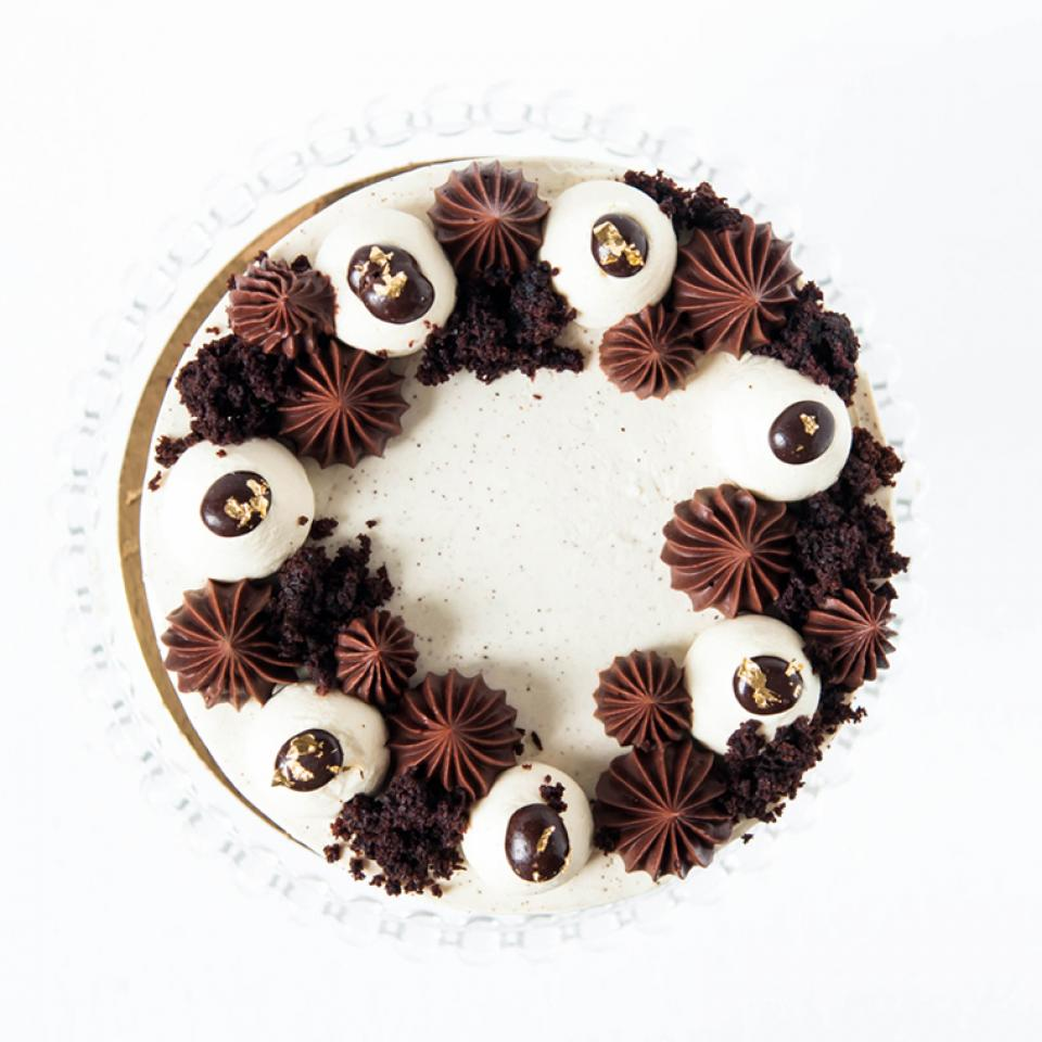 """Order 8"""" chocolate Irish coffee cake £70.00 online London delivery"""