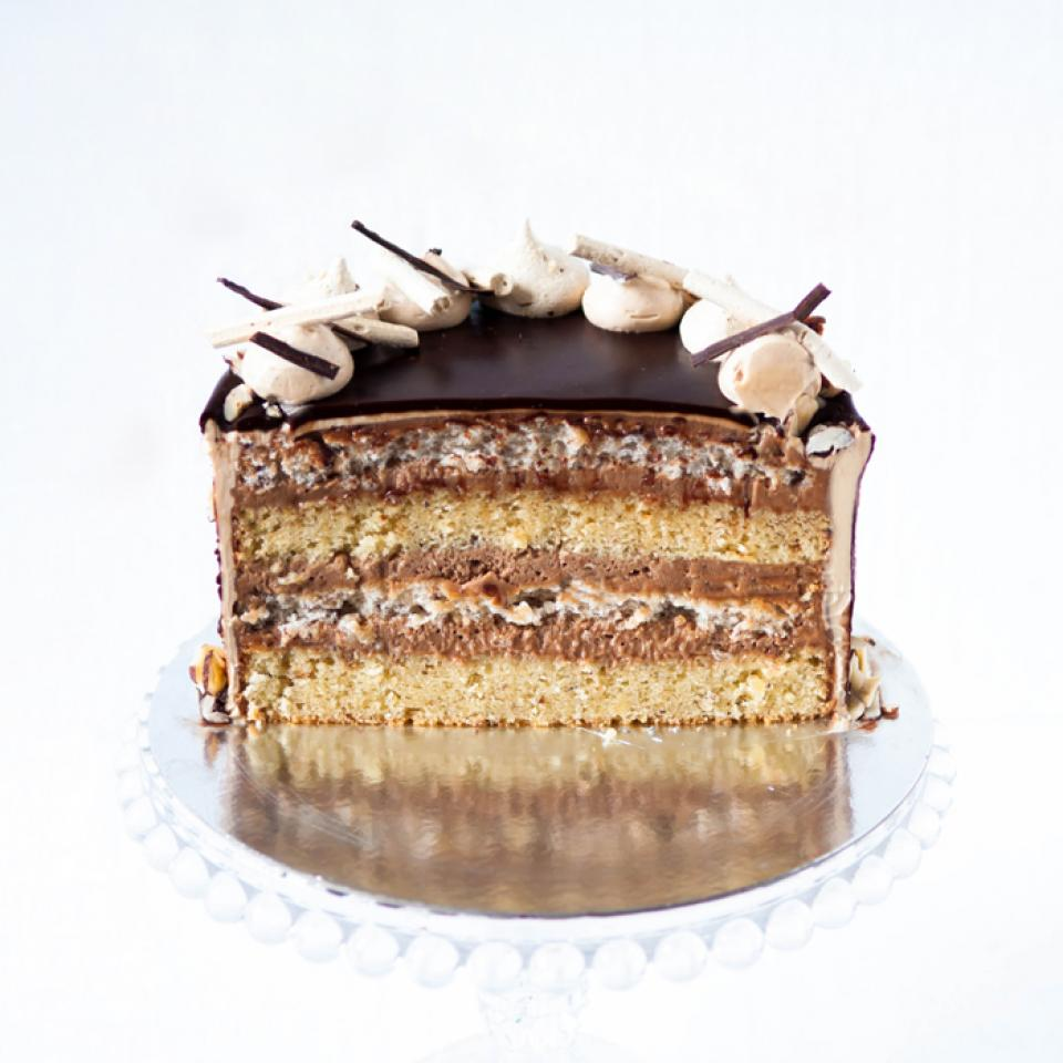 Hazelnut cake bought online delivered to North London