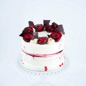 "6"" Plum amaretto almond birthday cake £45.00 buy online London"